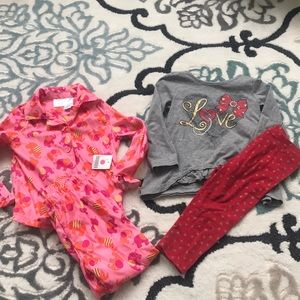 Girls 3T New Pajamas & Heart outfit